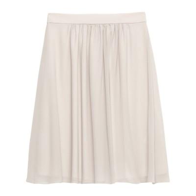 ブルマリン BLUMARINE ひざ丈スカート ライトグレー 40 シルク 100% ひざ丈スカート