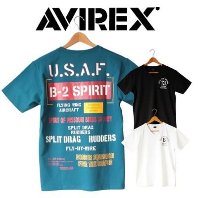 AVIREX avirex アビレックス メンズ Tシャツ 半袖 SS B-2 SPIRIT TEE Vネック スピリット