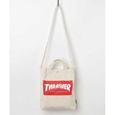 Parks TOKYO / 【THRASHER/スラッシャー】2Way Shoulder Bag / キャンバス ショルダーバッグ MEN バッグ > ショルダーバッグ