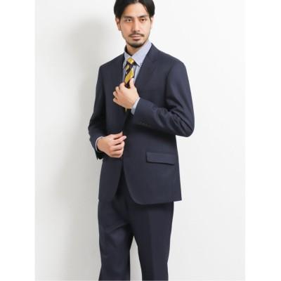 【タカキュー】 ストレッチウォッシャブル カラーペーン柄リラックスフィット2ピーススーツ 紺 メンズ ネイビー AB7 TAKA-Q