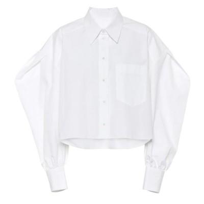 ヴァレンティノ Valentino レディース ブラウス・シャツ トップス Cotton-poplin blouse Bianco