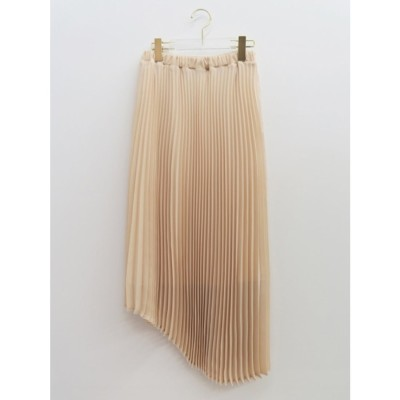 asymmetry chiffon skirt (offwhite)
