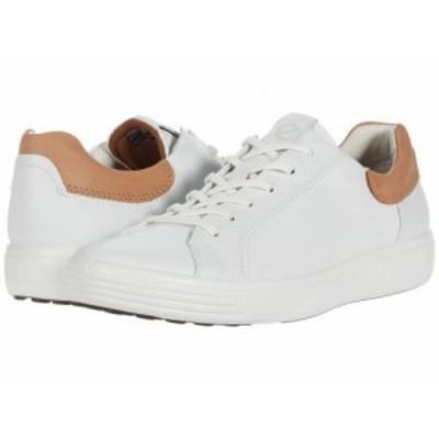 ECCO エコー メンズ 男性用 シューズ 靴 スニーカー 運動靴 Soft 7 Street Sneaker White/Cashmere【送料無料】
