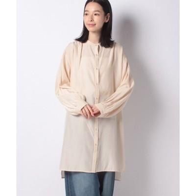 【メラン クルージュ】【Melan Cleuge women】サテンチュニックシャツ