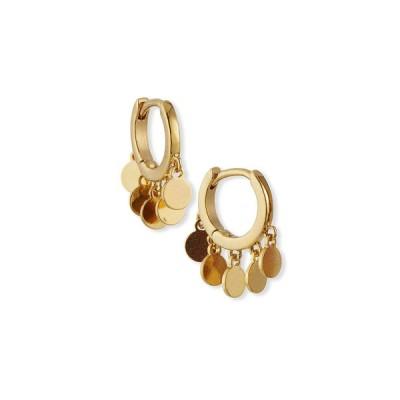 タイ レディース ピアス・イヤリング アクセサリー Disc Dangle Hoop Earrings