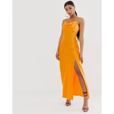 リバーアイランド レディース ワンピース トップス River Island slip dress in neon orange