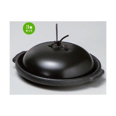 3個セット ☆ 耐熱調理器 ☆黒6.0陶板 (組) [ 18.3 x 16.7 x 5.7cm 634g ] 【 洋食器 飲食店 業務用 】
