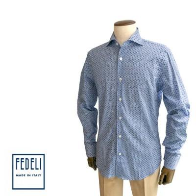 カジュアルシャツ シャツ プリントシャツ 柄シャツ メンズ カジュアル ブランド フェデーリ フェデッリ FEDELI