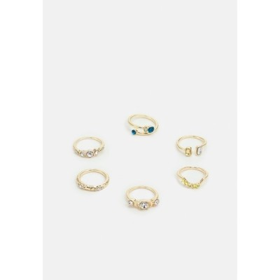 ピーシーズ リング レディース アクセサリー PCMONI KEY 6 PACK - Ring - gold-colored