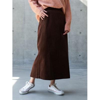 【コエ】 コーデュロイスカート レディース ブラウン L koe