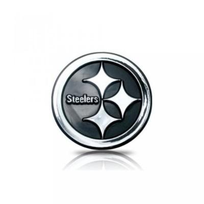 全国配送料無料!3 D プラスチック クローム仕上げエンブレム NFL のチームのロゴデザイン - ピッツバーグ ・ スティーラーズ 海外正規流通品 並行輸入品