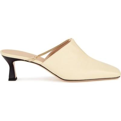 ワンダラー Wandler レディース サンダル・ミュール シューズ・靴 Isa 55 Cream Leather Mules Natural