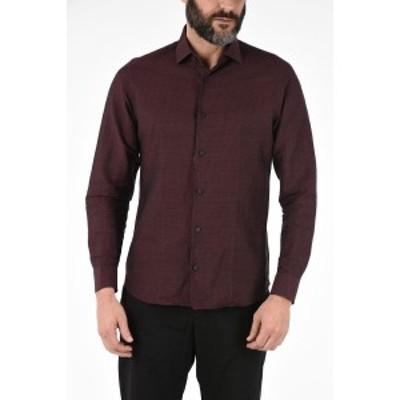 ERMENEGILDO ZEGNA/エルメネジルド ゼニア Red メンズ ZZEGNA Cotton and Linen Printed Shirt dk