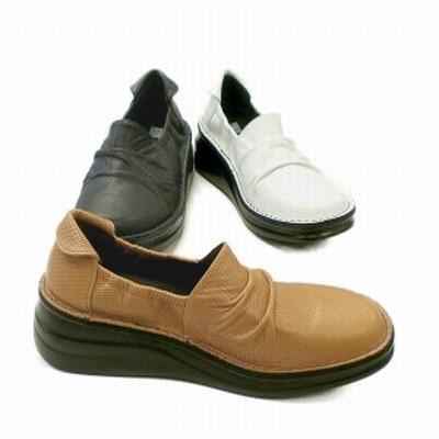 パンプス レディースシューズ レディースファッション 靴 本革 くしゅくしゅ サイドゴム バレーシューズ 牛革 スモールパンチ加工素材