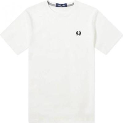フレッドペリー Fred Perry Authentic メンズ Tシャツ ロゴTシャツ トップス logo tee Snow White