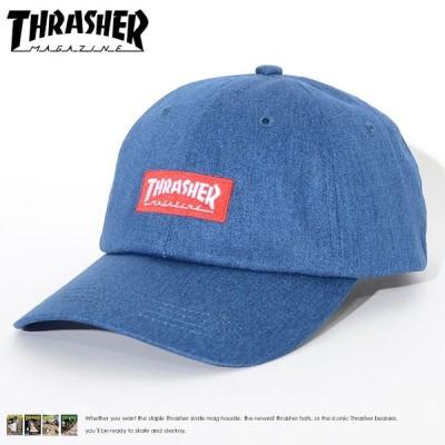 THRASHER スラッシャー ローキャップ 帽子 ストラップバック ボックスMAGロゴ刺繍 (19TH-C01) セール