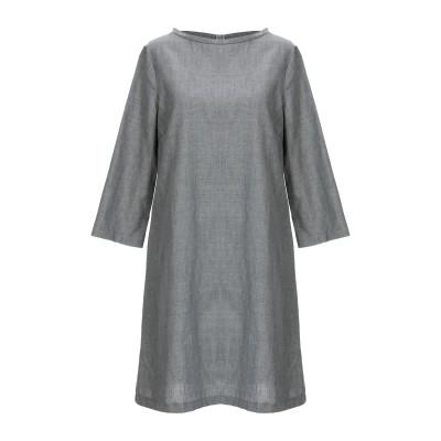 SATÌNE ミニワンピース&ドレス グレー S レーヨン 80% / 麻 20% ミニワンピース&ドレス
