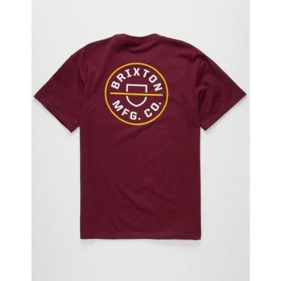 ブリクストン BRIXTON メンズ Tシャツ トップス Crest II T-Shirt MAROO