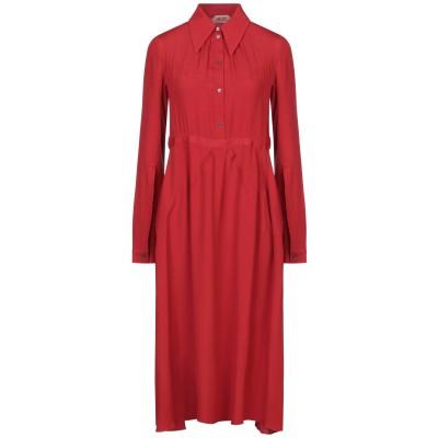 ヌメロ ヴェントゥーノ N°21 7分丈ワンピース・ドレス レッド 38 アセテート 69% / シルク 31% 7分丈ワンピース・ドレス