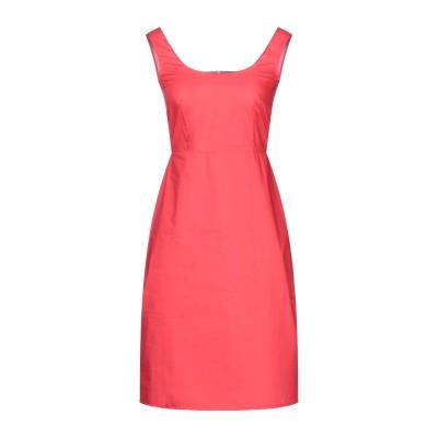 SANDRO FERRONE ミニワンピース&ドレス レッド 40 コットン 100% ミニワンピース&ドレス