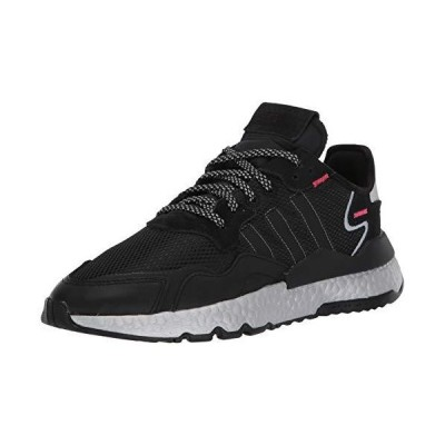adidas Originals Women's Nite Jogger Sneaker, core Black/Shock Red/Silver Met, 7.5 M US