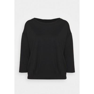 モア アンド モア パーカー・スウェットシャツ レディース アウター WITH PLEATED HEM - Sweatshirt - black
