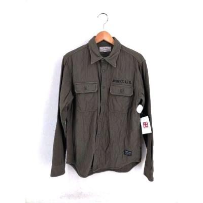 アヴィレックス AVIREX 長袖キルティングシャツ メンズ M 中古 210319