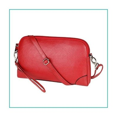 "Pure Hyde Red Leather Purse and Ladies Wallet, Genuine Leather, 9.5"" X 5.5"", Wristlet Clutch for Women【並行輸入品】"