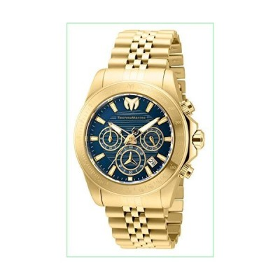 Technomarine Men's Manta Ray Quartz Watch with Stainless Steel Strap, Gold, 22 (Model: TM-219024)【並行輸入品】