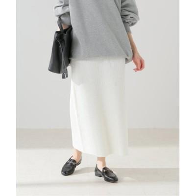【スピック&スパン/Spick & Span】 【BLOSSOM H】 ブークレニットスカート