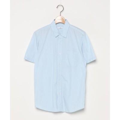 シャツ ブラウス 無地半袖シャツ