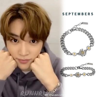 [SEPTEMBER5] NCTソンチャン着用 Mix Sunflower Chain Bracel