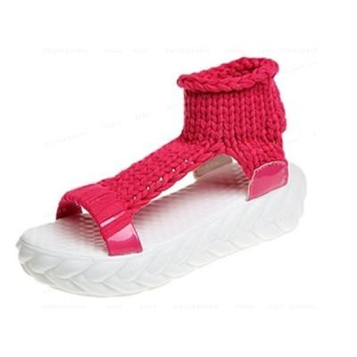 サンダルレディースブーツサンダルニットサンダル厚底厚底サンダルレディースサンダル靴