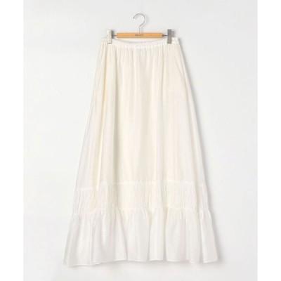 スカート 【enrica/エンリカ】.綿サテンギャザースカート
