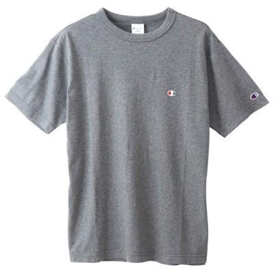 チャンピオン 半袖 Tシャツ メンズ CHAMPION ベーシック 19SS 胸Cロゴ ヘザーチャコール