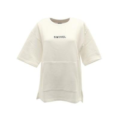 スウィベル(Swivel) Tシャツ レディース 半袖 TERRY ビッグロゴ 870SW0CD3266 WHT オンライン価格 (レディース)