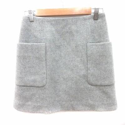 【中古】ジュエルチェンジズ Jewel Changes アローズ スカート 台形 ミニ ウール 36 グレー /RT レディース