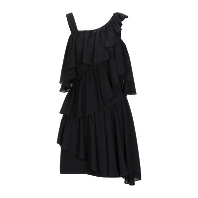 LAMANIA ミニワンピース&ドレス ブラック 38 ポリエステル 100% ミニワンピース&ドレス