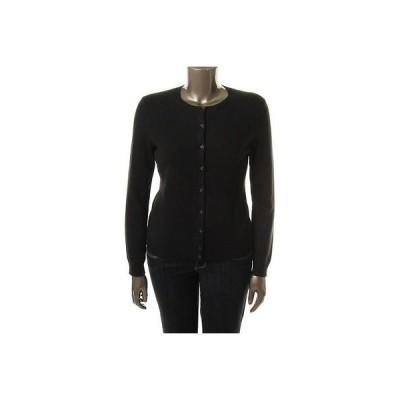 セーター アウター防寒 Designer Designer 7293 レディース ブラック Cashmere Ribbed カーディガン セーター Top M BHFO
