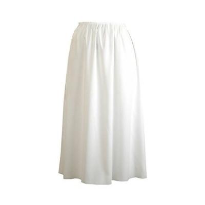 Felice 丈が選べる透けないロングペチコート 日本製 オフホワイト Mサイズ 70cm丈