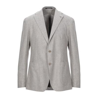タリアトーレ TAGLIATORE テーラードジャケット ライトグレー 48 バージンウール 100% テーラードジャケット