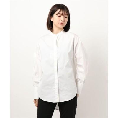 シャツ ブラウス バックバルーンオーバーサイズ長袖シャツ