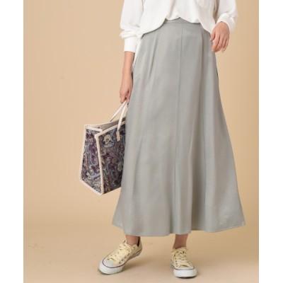 INTERPLANET/actuel / ポリコットンサテンスカート WOMEN スカート > スカート
