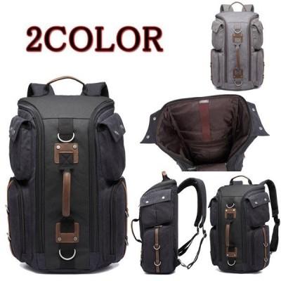 リュックサック メンズ リュック ザック バックパック キャンバス 帆布バッグ 鞄 大容量 多機能 旅行 通学 おしゃれ