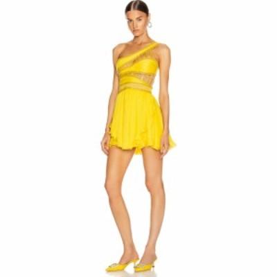 アドネヴィック Aadnevik レディース ワンピース ワンピース・ドレス one shoulder chiffon mini dress Canary Yellow