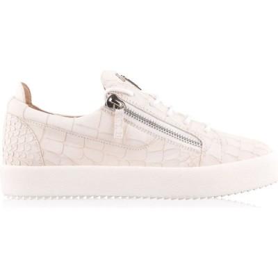 ジュゼッペ ザノッティ GIUSEPPE ZANOTTI メンズ スニーカー シューズ・靴 Matte Crocodile Effect May Trainers White