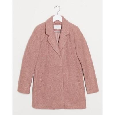 ヴィラ レディース コート アウター Vila straight coat in rose