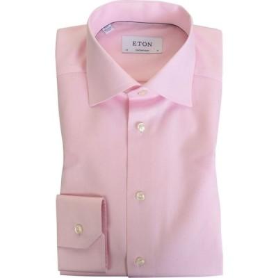 イートン Eton メンズ シャツ トップス contemporary fit cotton twill shirt Pink