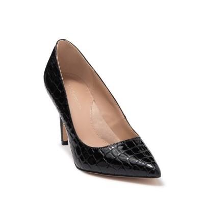 ビーシビージー レディース パンプス シューズ Middea Croc Embossed Pointed Toe Pump BLACK EMBOSSED CROC PRINT PU