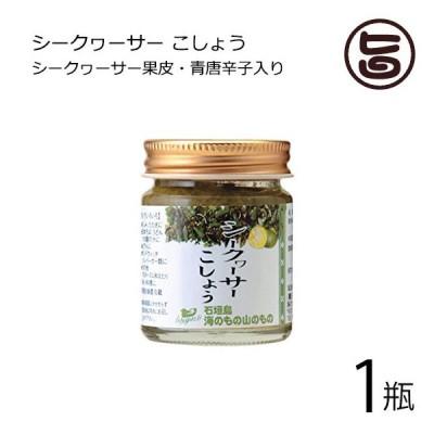 シークヮーサーこしょう 生タイプ 40g×1瓶 海のもの山のもの 沖縄 人気 土産 ノビレチン 調味料 フルーツ  送料無料